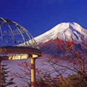 Mount Fuji In Autumn Art Print
