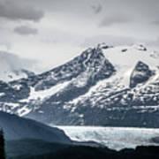 Mountain Range Scenes In June Around Juneau Alaska Art Print