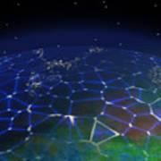 Network Planet Art Print