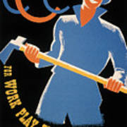 New Deal: Wpa Poster Art Print