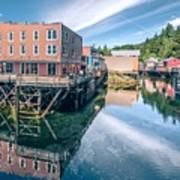 Old Historic Town Of Ketchikan Alaska Downtown Art Print