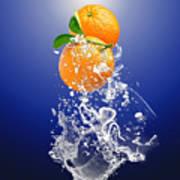 Orange Splash Art Print