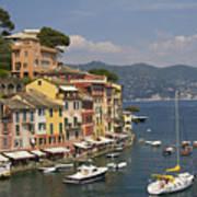 Portofino In The Italian Riviera In Liguria Italy Art Print
