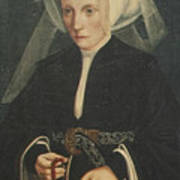 Portrait Of A Lady Holding A Rosary Art Print