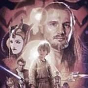 Star Wars Characters Poster Art Print