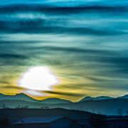 Sunrise Over Colorado Rocky Mountains Art Print