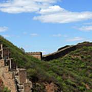 The Great Wall Of China Near Jinshanling Village, Beijing Art Print