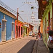 Traversing Santiago De Cuba, Cuba. Art Print