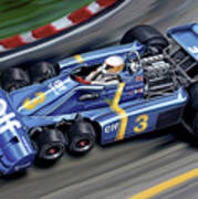 6 Wheel Tyrrell P34 F-1 Car Art Print
