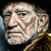 Willie Nelson Collection Art Print