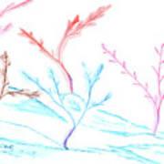 6 Winter Trees Art Print