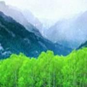 Nature Work Landscape Art Print