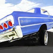 64 Impala Lowrider Art Print