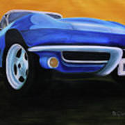 66 Corvette - Blue Art Print