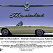 '66 Thunderbird Convertible Art Print