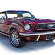 69 Ford Mustang Art Print by Mamie Thornbrue