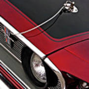 69 Mustang Hood Pin And Grille Art Print