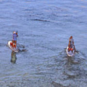 69- Paddle Boarders Art Print