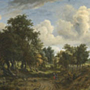 A Wooded Landscape Art Print
