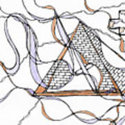 Abstract Pencil Pattern Art Print