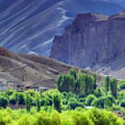 aerial view of Leh ladakh landscape Jammu and Kashmir India Art Print