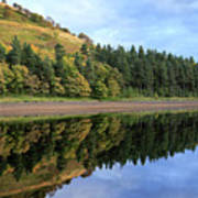Autumn Derwent Reservoir Derbyshire Peak District Art Print