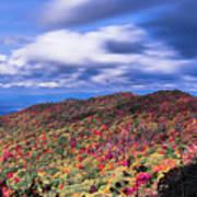 Beautiful Autumn Landscape In North Carolina Mountains Art Print