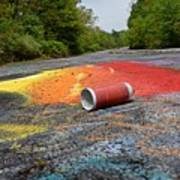 Discarded Spray Paint Can Art Print