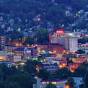 Downtown Morgantown And West Virginia University Art Print