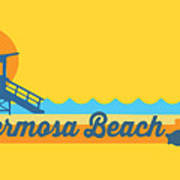 Hermosa Beach. Art Print