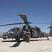 Hh-60g Pave Hawk With Pararescuemen Art Print