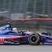 High Speed Indycar Art Print