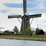 Kinderdijk Windmills Art Print