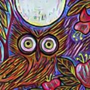 Owl Midnight Art Print