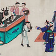Portraying The Chinese Tea Traders Art Print