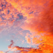 Red Cloudscape At Sunset. Art Print