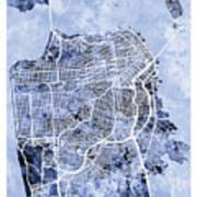 San Francisco City Street Map Art Print