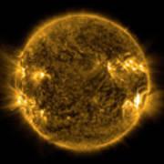 Solar Activity On The Sun Art Print