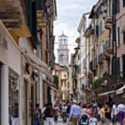 Streets Of Verona Art Print