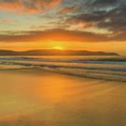 Sunrise Seascape At The Beach Art Print