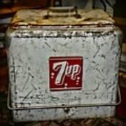 7 Up Vintage Cooler Art Print