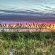 Yorktown Beach At Sunrise Art Print