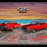 70 Chevell Ss 454 Art Print