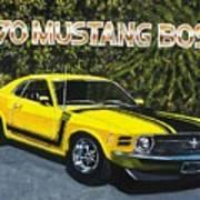 70 Mustang Boss Art Print