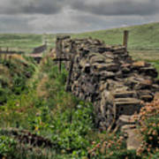 Rock Wall And Field In Ireland 7010199  Art Print