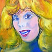 70's Blue Eyed Blonde Art Print