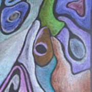 #758 Abstract Drawing Art Print