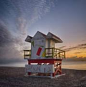 7898- Miami Beach Sunrise Art Print
