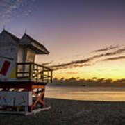 7901- Miami Beach Sunrise Art Print