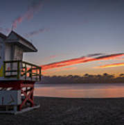 7935- Miami Beach Sunrise 14x25 Art Print